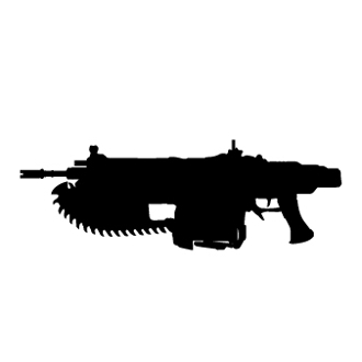 Gears of War and Gun Rack Sticker Decals